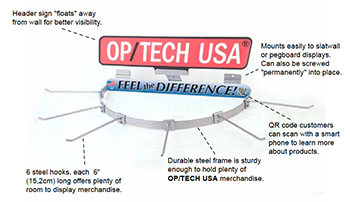 OP/TECH USA Curved Wall-Mount Rack