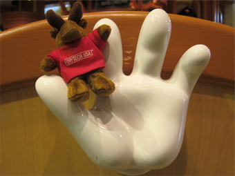 Myles the Moose in Disneyland